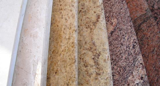 parapety granitowe różne rodzaje